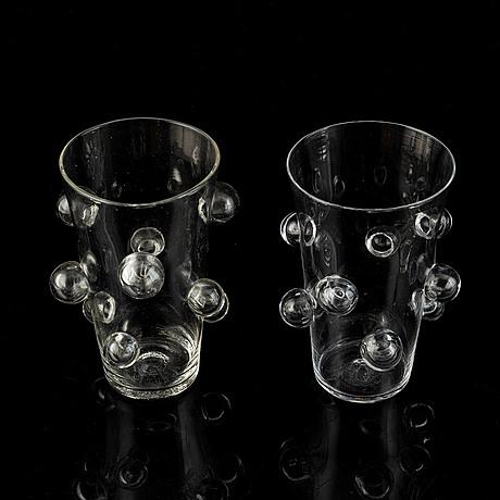 Mårten medbo, a pair of glasses, signed.
