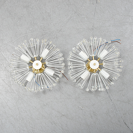 Emil stejnar, a pair of wall lights.