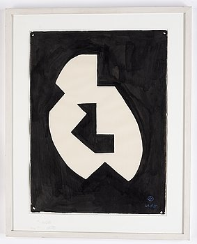 Lennart Rodhe, ink, signerad and dated 29/5-55.