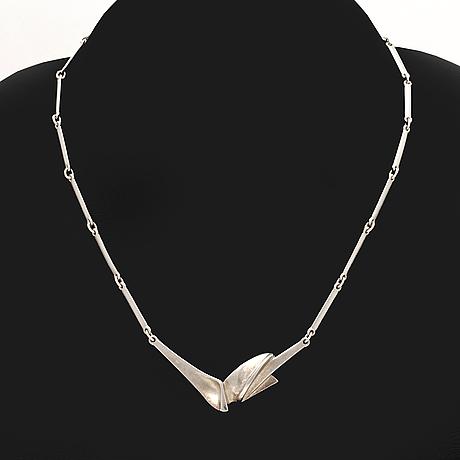 """Lapponia silver jewellery, """"hespera"""" necklace design zoltan popovits, 4 lots."""