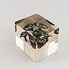 Oiva toikka, a glass cube, nuutajärvi notsjö, 1978, numbered 480/2000.