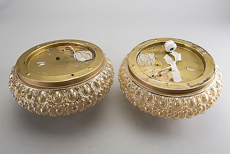 A pair of wall/ceiling lights for glashütte limburg, germany.