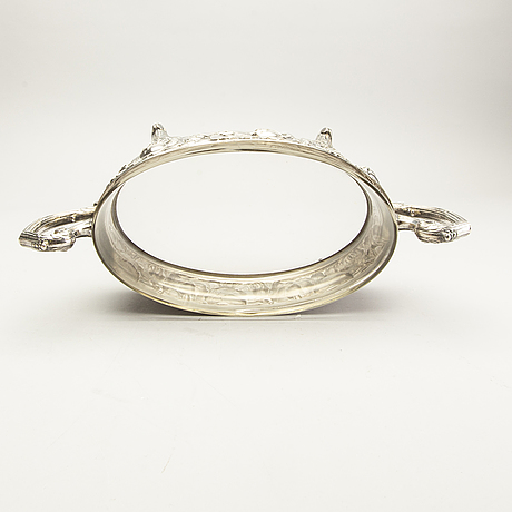 A danish silver plate jardiniere early 1900s.