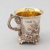 A parcel-gilt rococo revival silver jug, mark of charles fox ii, london 1839.