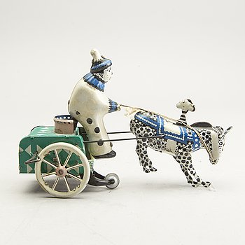 A mecanical toy lithographed metal mid 1900s.