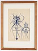 A max walter svanberg sketch, signed and dated -63.