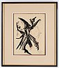 Jean michel atlan, lithograph in colors, signed and dated juni -49, epreuve d'artiste.