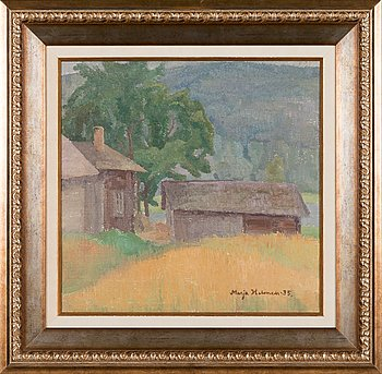 Marja Halonen, oil on canvas, signed and dated -35.