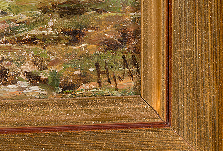 Hjalmar munsterhjelm, oil on canvas, signed.