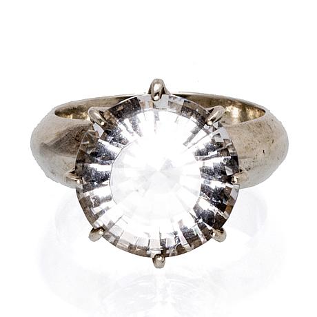 Collier och ring, sterling silver och bergkristall, judits ädelsmedja malmö.
