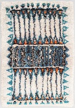 Aini Suomi, a Finnish long pile rug for Sylvi Salonen. Circa 154x106 cm.
