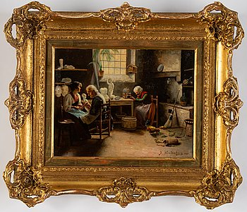 Bengt Nordenberg, oil on panel, signed and dated 1861.