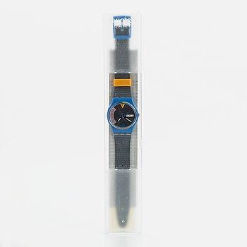Swatch, Blue Jet, wristwatch, 34 mm.