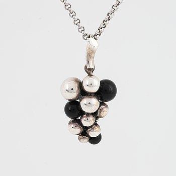 "Georg Jensen, ""moonlight grapes"" silver necklace."