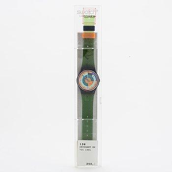 Swatch, Skyshart, wristwatch, 34 mm.