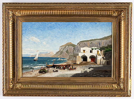 Olof arborelius, oil on canvas, signed and dated 1875.