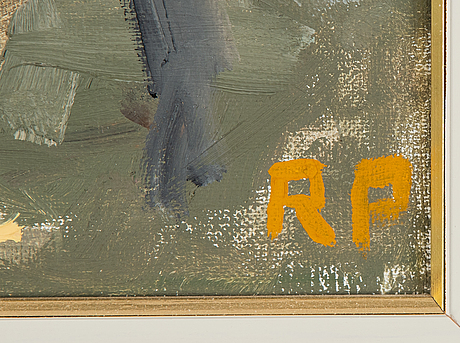 Ragnar person, oil on canvas, signed.