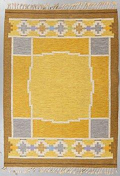 Ingegerd Silow, a carpet, flat weave, ca 229 x 162,5-167 cm, signed IS.