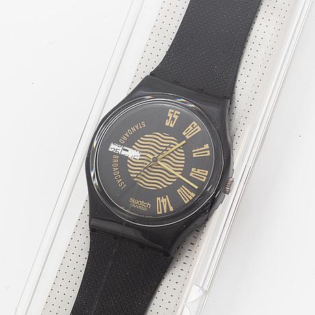 Swatch, broadcast, wristwatch, 34 mm.