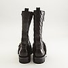 """Burberry, london, boots, leather, """"wharting qui mid high boot houseneck""""."""