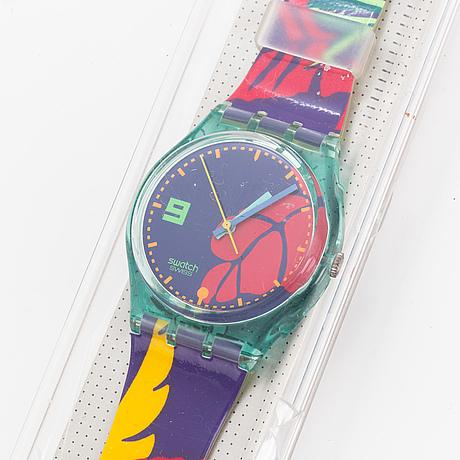 Swatch, ibiskus, wristwatch, 34 mm.