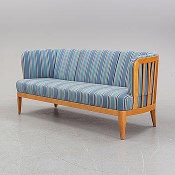 An 'Ulla' oak sofa by Carl Malmsten, 1964.