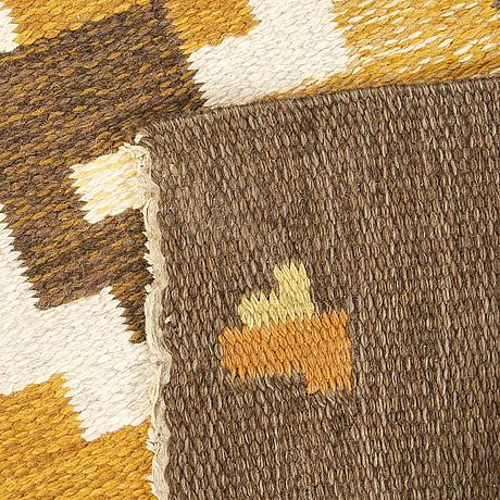 A flat weave carpet signed erik lundberg ca 240 x 170 cm.