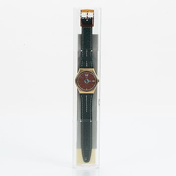 Swatch, Boca Verde, wristwatch, 34 mm.