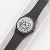 Swatch, black night, wristwatch, 25 mm.