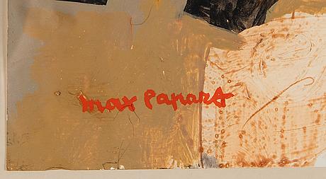 Max papart, mixed media, signed max papart.
