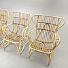 Garden group, 4 armchairs, table, second half of the 20th century.