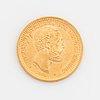 Oscar ii, guldmynt, 20 kr, 1885, typ iii.