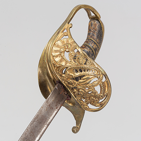 A swedish officer's sword, second half of the 19th century.