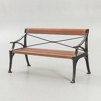 "Byarum, cast aluminum, Solid mahogany, garden sofa, ""Lessebo""."