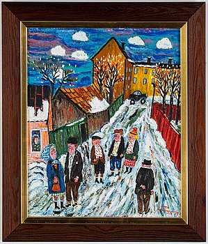 Sven Lidberg, oil on panel, signed and dated -79.