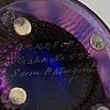 Sven palmqvist, a signed glass vase and bowl, 'kraka', orrefors.