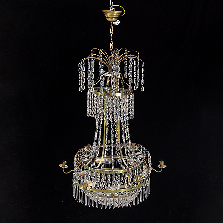 A empire style chandelier, 20th century.