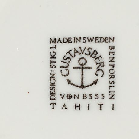 "Stig lindberg, 4 pieces, ""tahiti"", gustavsberg."