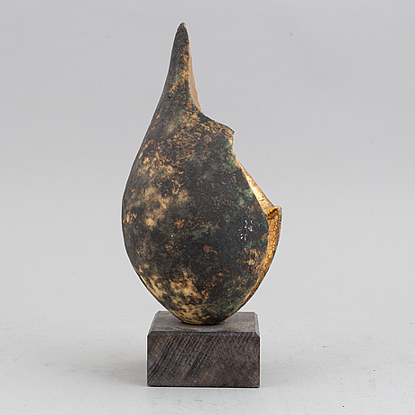 A stoneware sculpture by alf ekberg, signed.