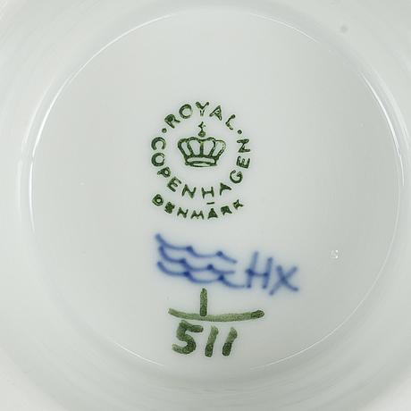 """Delar av kaffeservis,  porslin, 13 delar, """"musselmalet"""", hel- och halvblonde, , royal copenhagen."""