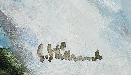 Gunnar stålbrand, oil on canvas, signed.