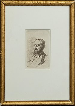 Anders Zorn etching, signed in print.