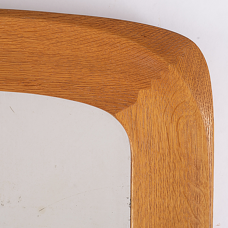 A pair of oak mirrors from glas & trä, dated 1961.