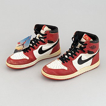 "Sneakers, ""Air Jordan 1 Chicago"", Nike, 1985."