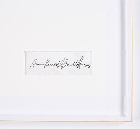 Annika von hausswolff, fotografi signerat och daterat a tergo.