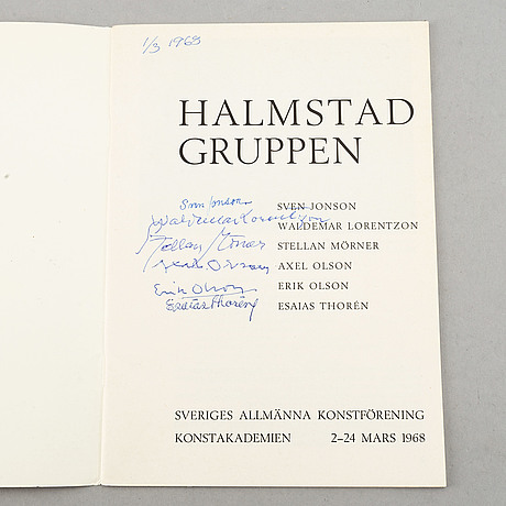 Exhibition catalogues (24), halmstadgruppen. various exhibitions 1931-1986.