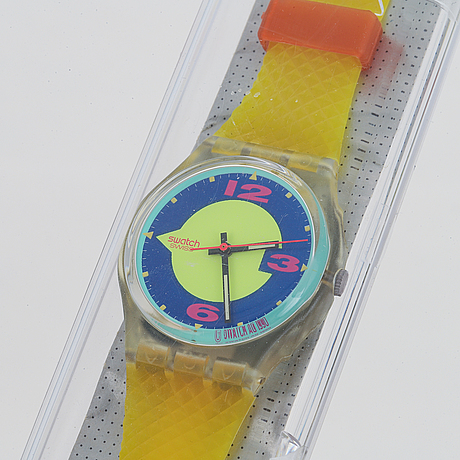 Swatch, reflector, wristwatch, 34 mm.