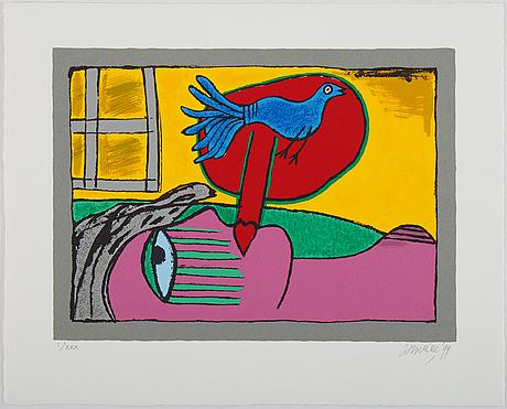 Beverloo corneille, silkscreen in colours, 1999, signed i/xxx.