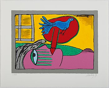 Beverloo Corneille, silkscreen in colours, 1999, signed I/XXX.