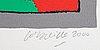 Beverloo corneille, färgserigrafi, 2000, signerad e/a.